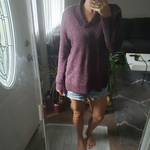 NATURAL REFLECTIONS PURPLE SWEATER